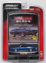 Greenlight Auction Block      Plymouth Cuda Baracuda Limited     Greenlight Mecum Auction Block      Pontiac GTO Judge Series