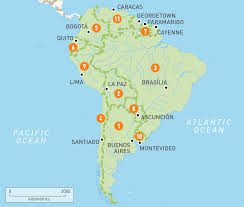 Latin America Map Labeled by South America Map Countries Roundtripticket Me