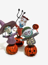 the nightmare before christmas lock shock and barrel figurines