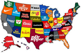 New York Map Us by Map The Most Famous Brand From Every State The Atlantic