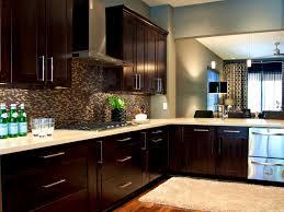 Blue Backsplash Kitchen Bathroom Delectable Dark Kitchen Cabinets Grey Walls Outofhome