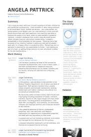 Secretary Resume Sample by Legal Secretary Cv örneği Visualcv özgeçmiş örnekleri Veritabanı