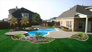 Backyard Landscape Design Ideas With Pool Fleagorcom
