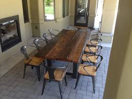 Metal Dining Room Chair Reclaimed Wood And Metal Dining Table Uk Reclaimed Industrial