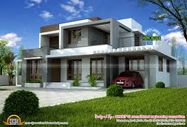 1722 square feet modern flat roof house kerala home design and