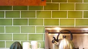Green Tile Backsplash by Green Subway Tile Backsplash White Solid Countertop Bottom Freezer