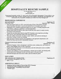 Examples Of Summaries On Resumes by Hospitality Resume Sample U0026 Writing Guide Resume Genius