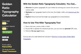 See how Thesis     makes smart web design decisions  no coding     DIYthemes Golden Ratio Typography calculator