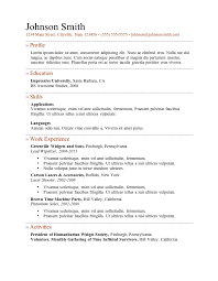 Free Blank Resume Templates For Microsoft Word  blank resume     Laruelle co     Sample Resume  Resume Layout Template Example For Electromechanical Technician With Employment Experience  Sample Free