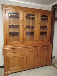 Pine Drawers Solid Pine Dresser Large Freestanding Top 3 Glass Doors Over 3