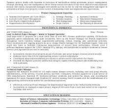 Sample Test Manager Resume by Sample Project Manager Resume Cv Resume Ideas