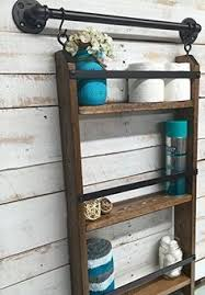 Over The Toilet Ladder Leaning Bathroom Ladder Over Toilet Shelf Knock Off Wood