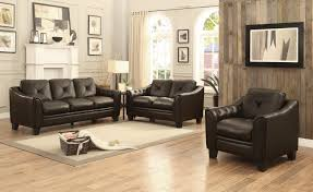 Chocolate Living Room Furniture by Homelegance Memphis Sofa Set Top Grain Leather Match Chocolate