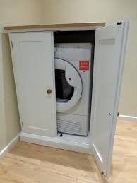 tumble dryer cupboard bespoke kitchen and dining room furniture
