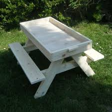 build your kids a picnic table with sandbox