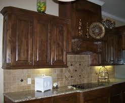Kitchen Cabinets Mahogany Staining Kitchen Cabinets Cool Brown Porcelain Subway Tile