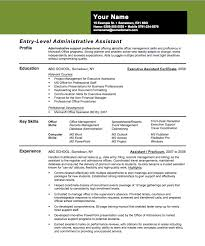 Banker Resume Example by Entry Level Assistant Principal Resume Templates Entry Level