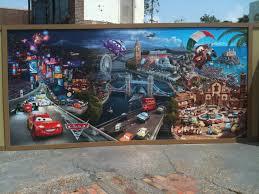 wordless wednesday pixar cars 2 mural at walt disney world wordless wednesday pixar cars 2 mural at walt disney world disney every day