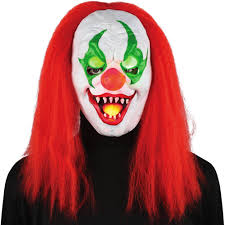 light up eyes sinister clown mask halloween accessory walmart com