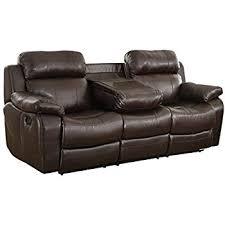 amazon com homelegance marille reclining sofa w center console