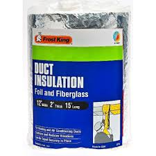 Insulated Ventilation Ducting E O 12 In X 15 Ft Foil And Fiberglass Duct Insulation Sp55 6
