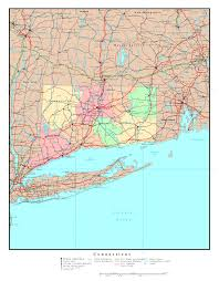 United States Map Major Cities by Large Administrative Map Of Connecticut State With Roads Highways
