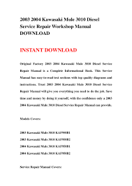 2003 2004 kawasaki mule 3010 diesel service repair workshop manual do u2026