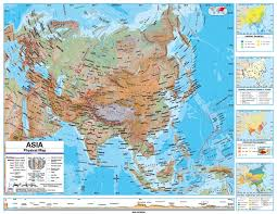Blank Physical Map Of Russia by Online Maps Asia Physical Map