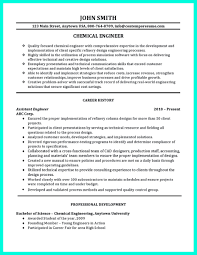 Sample Resume Objectives For Job Fair by Successful Objectives In Chemical Engineering Resume