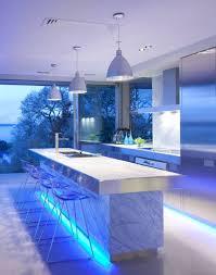 Creative Kitchen Island Ideas Creative Kitchen Storage With Kitchen Island And Blue Lighting