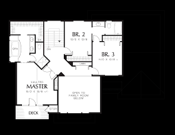 Floor Plan With Roof Plan by Mascord House Plan 2263dc The Fairmont