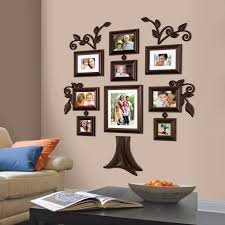 9 piece family tree wall photo frame set hanging frames picture