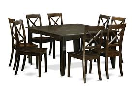 9 piece dining table set kitchen table with leaf and 8 dinette chairs product description includes parfait 9 piece set