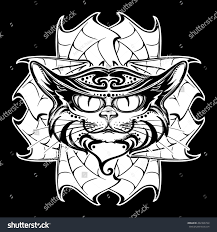 halloween illustration black cat head on stock vector 492366724