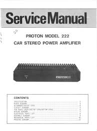proton model 222 car stereo power amplifier proton amazon com books