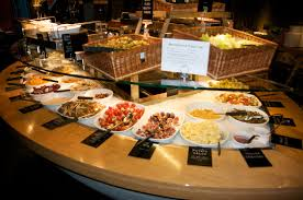 The buffet bar at Tibits London