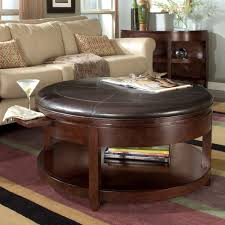 round wood coffee table with storage round designs
