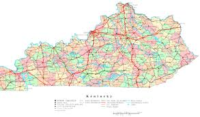 Ohio Kentucky Map by Kentucky Elevation Map