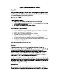 Personal Leadership Development Plan   Timothy A  Judge