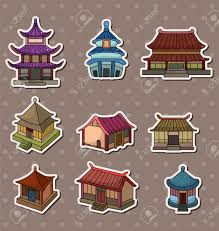 chinese house stickers royalty free cliparts vectors and stock