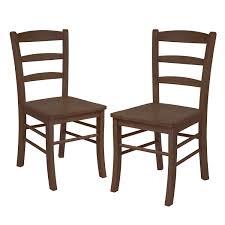 amazon com winsome wood ladder back chair light oak set of 2