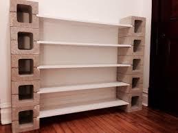 decorations shelves design elegant cinder block bookshelf for