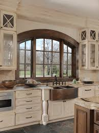Antiqued Kitchen Cabinets by Distressed Kitchen Cabinetry And Copper Sink Beck Allen Cabinetry