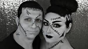 frankenstein and his bride couples halloween makeup tutorials