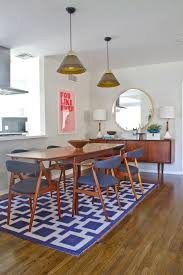 Geometric Area Rugs Make A Statement Without Saying A Word Mid - Century dining room tables