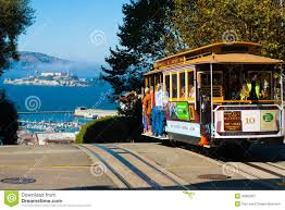 San Francisco Cable Car Map by Powell Hyde Cable Car Alcatraz San Francisco Editorial Photography