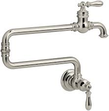 Single Hole Kitchen Faucets Kohler 99270 Sn Artifacts Single Hole Wall Mount Pot Filler