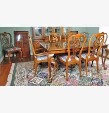 Thomasville Dining Room Chairs by Thomasville Fisher Park Dining Table And Eight Chairs Ebth