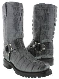 leather biker boots cowboy boots men u0027s gray crocodile tail cowboy boots square toe