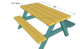 Plans For Wood Picnic Table by Kids Picnic Table Plans Myoutdoorplans Free Woodworking Plans